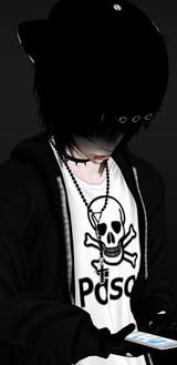 Black Goth Dark Kids Boys Skulls